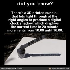 Walk from another side of the World — did-you-kno:   There's a 3D-printed sundial that...