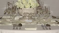 Name Place Settings Silver Plated Leaves