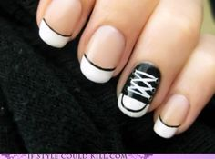 converse sneaker nail art and more. haha so fun. looks like what I used to do in highschool when I used to repaint my nails every single day only way more creative.
