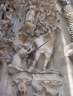 https://flic.kr/p/3tF3q | The Slaughter of the Innocents | Gaudi himself graphically depicted the Slaughter of the Innocents, ordered by Herod Antipas, who feared the new-born King of the Jews would pose a political threat to his reign. St. Thomas Aquinas later wrote that Jesus' death on the cross was the final fulfillment of Herod's order.