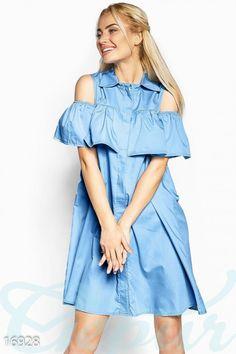 Gepur | Оригинальное платье-рубашка арт. 16928 Цена от производителя, достоверные описание, отзывы, фото