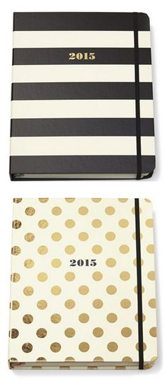 Kate Spade planners - including monthly and weekly spreads, a contacts section, note pages and laminated dividers // these are so cute and I want one or two for 2015-2016 since this year is pretty much over and I could use them on my mission too
