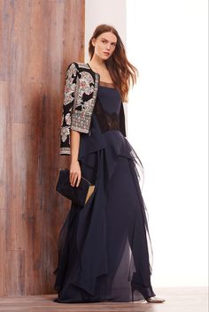 BCBG Max Azria - Pre-Fall 2015: a perfect combination of tailored, flowing and sheer for a grand night out