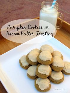 Soft Pumpkin Cookies with amazing brown butter frosting - even my husband who doesn't like pumpkin things ate about 10 of these!