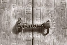 The 3245 year old seal on Tutankhamen's tomb before it was broken in 1922