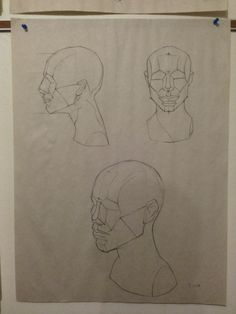 Trying to memorize those planes of the head, these studies are of the memorized Asaro Head, from phase 1 of the Watts Atelier Online School.