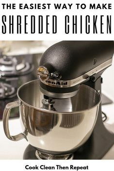 Here's the thing.making shredded chicken does not have to be tedious and tiring. I'm going to share with you today my ultimate kitchen hack for making slow cooker shredded chicken! Easy Shredded Chicken, Slow Cooker Shredded Chicken, Most Delicious Recipe, Delicious Food, Slow Cooker Huhn, Meal Prep For Beginners, Quick Dinner Recipes, Easy Recipes, Frugal Family