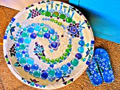 My mosaic bird bath creation…  Lots of symbolism in this… but I only know…