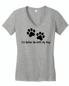 Yummy and super soft heather grey v neck for dog lovers! 90% pre shrunk cotton and 10% polyester. Free shipping to anywhere in the US and easy and affordable international shipping.
