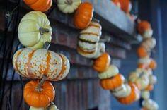 Pumpkin garland, courtesy of P. Allen Smith.