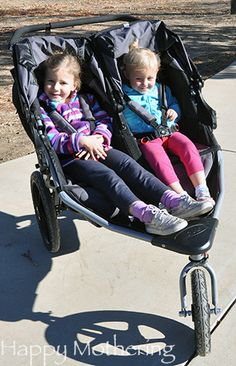 We live on a dirt road, so I've been looking for a good double jogging stroller that could handle the terrain (the street on the other side of the stop …