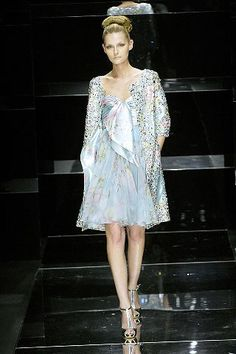 617ca5546d8 Elie Saab Spring 2008 Couture Fashion Show - Tatyana Usova Frock Dress