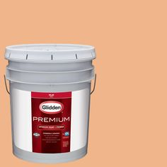 Glidden Premium 5 gal. #HDGO32D Coral Spice Flat Interior Paint with Primer