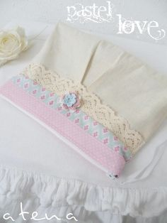 pastel love pouch