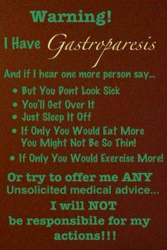 Gastroparesis Well Said, well said!!!! truth.com!!!!