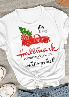 Hallmark Christmas Movies Watching Shirt Baseball T-Shirt Tee. If you love Hallmark Christmas Movies you will NEED this Hallmark Christmas Movie Watching Shirt SVG file! Spend your Christmas in comfort and style in this cute and fun raglan tee.