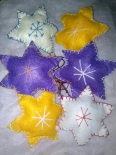 Estrellas fieltro Stars, Felting