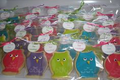 Owl Sugar Cookie Party Favors for Weddings by PartiesandPastries, $25.00