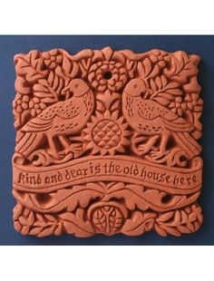William Morris Dear House Terracotta Decorative Wall Tile - Arts and Crafts Living
