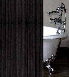 Black Faux Suede Luxury Shower Curtain Custom Made Western Bathroom Decor, Western Bathrooms, Western Baths, Luxury Shower Curtain, Kitchens And Bedrooms, Southwestern Style, Black Accents, Fabric Shower Curtains, Bathroom Styling