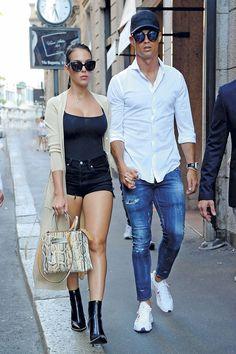 Cristiano Ronaldo y Georgina Rodríguez, de compras en Milán