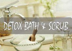 At-home Spa treatment – Detox bath and scrub