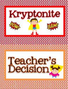 Teaming Up To Teach: More Superhero Classroom Stuff!