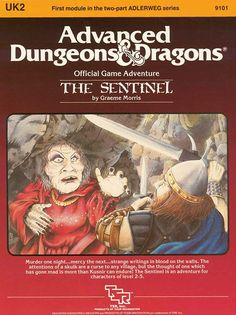 UK2 The Sentinel (1e) | Book cover and interior art for Advanced Dungeons and Dragons 1.0 - Advanced Dungeons & Dragons, D&D, DND, AD&D, ADND, 1st Edition, 1st Ed., 1.0, 1E, OSRIC, OSR, Roleplaying Game, Role Playing Game, RPG, Wizards of the Coast, WotC, TSR Inc. | Create your own roleplaying game books w/ RPG Bard: www.rpgbard.com