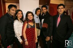 shirin with celeb guests at  Shehnaai Couture, launched their spring summer bridal couture line with 2 sold out shows on March 7th 2013.