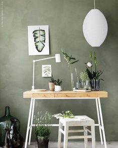Afbeeldingsresultaat voor groene wand woonkamer