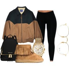 blainey cows etcetc by gvlden-bvbx on Polyvore featuring polyvore, fashion, style, MICHAEL Michael Kors, Michael Kors, Ray-Ban and clothing