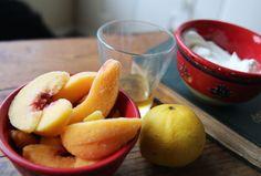 Homemade and Healthy Peach Frozen Yogurt | Broke But Bougie