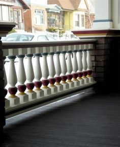 Railing in Butte, MT  http://www.westernspindle.com/wood-railing/6-inch-4-piece-porch-rail-system.html