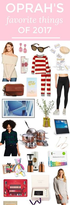 Oprah's Favorite Things of 2017! I used to love the favorite things episode of the Oprah show, and I still follow her favorites list every year! Click through this pin to see everything that Oprah is loving this year. There are SO many unique Christmas gift ideas!   gift ideas, unique gifts, creative gifts, amazon fashion finds, fun Christmas gifts, holiday gift idea