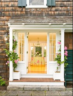 beach house - yellow entryway