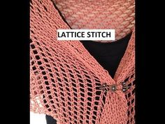 Lattice Stitch on a Knitting Loom. This is a tutorial to demonstrate the basic rows of my Lattice Stitch as worked on a knitting loom. The video is intended to supplement my written patterns. The video is to be used in conjunction with my patterns to Round Loom Knitting, Loom Knitting Stitches, Knifty Knitter, Loom Knitting Projects, Knitting Videos, Yarn Projects, Knitting Needles, Knitting Tutorials, Loom Hats