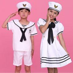 Children Uniform Captain Naval Officer Sailor Costume Girls Boys 7-12Y Suits New #Unbranded #Uniform