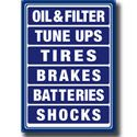 Image of Blue Auto Shop Board Metal Sign