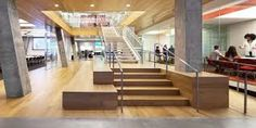 Gensler is an American design and architecture firm headquartered in San Francisco. Commercial Design, Commercial Interiors, Visual Merchandising, Timber Stair, Architectural Lighting Design, Window Signage, Light Architecture, Architecture Design, Design Furniture