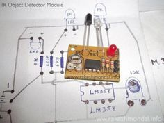 Infrared IR Object Detection schematic using IR LED and Photodiode ...