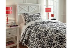 Baroque Black & White Twin Duvet Set | Ashley Furniture HomeStore | Arkansas' Largest Furniture HomeStore | Come by and see us in Bryant, AR | Until then, see more on our Facebook page: https://www.facebook.com/theashleystore/