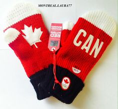 Olympics 2014 Canada apparel--I own a pair! O Canada, Cool Countries, Winter Olympics, Olympians, Rats, Mittens, Hockey, Vanity, Stockings