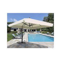 fim umbrellas pseries 10 x 13 crank lift cantilever patio umbrella - Rectangular Patio Umbrella