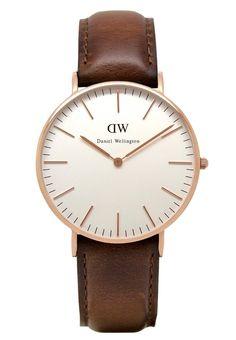 Daniel Wellington ST. MAWES - Uhr - roségoldfarben/braun