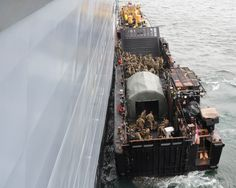 HMS Illustrious Royal Marines Onload