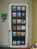 iWall Halloween Bulletin Board - Are the iPod Shuffle, iPod Touch and even the iPad just too small? Well now we are pleased to release the new iWall! http://bulletinboards.theteacherscorner.net/monthly/october/