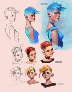 Image result for character design hairstyles