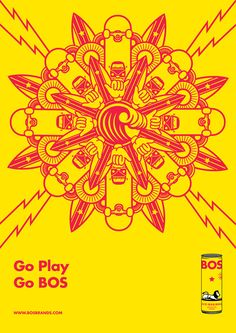Bos ice tea poster/postcards on Behance