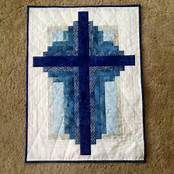 Free Christian Cross Quilt Pattern Log Cabin