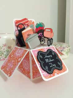 Cooking themed box card